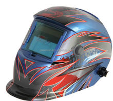 Painted auto welding helmet with blue color
