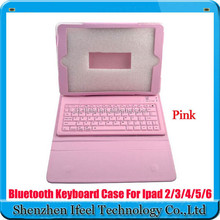 For Ipad Air Bluetooth Wireless Silicone Keyboard PU Leather Case Folio for iPad Air 5
