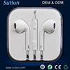 New 3.5mm Earphone Headset With Remote Mic For Apple iPhone 4 4S 5 5S 6 6S 6S Plus