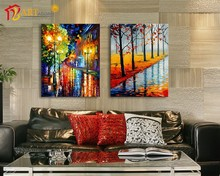 Fantasy abstract modern figure painting for wall decor