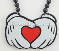 2012 popular acrylic necklace Mickey palm pendant hip-hop necklace good wood necklace