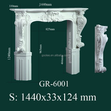 Morden European-style Decorative Hand Carved PU Fireplace