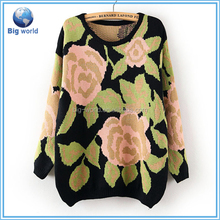 Fashion 3D printing sweater&long sleeve pullovers women&wholesale hooded sweatshirt