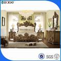 Bd-8008 nuevo diseño bouble imágenes de la cama de madera de la cama doble