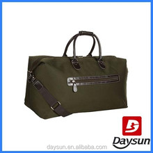 Army green travel duffel bag
