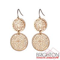 Gold Hollowed Drop Earrings E3-10276