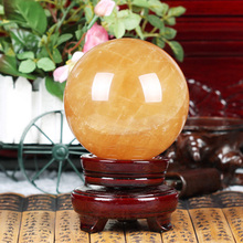 NATURAL Amethyst yellow Quartz Healing Crystal Sphere Ball