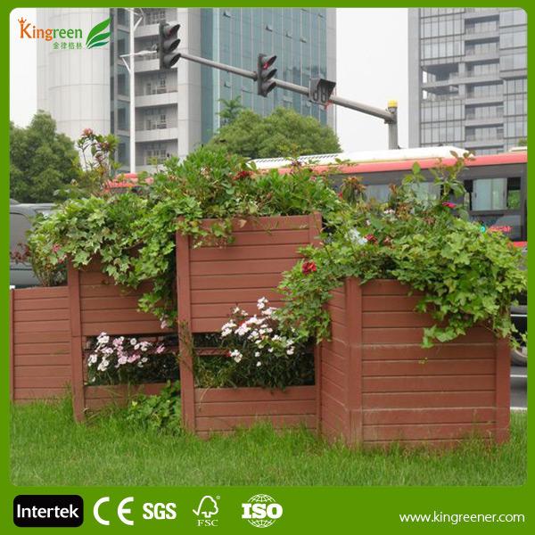 Wpc composite bo te fleurs pour jardin rue en bois for Fleur pour jardin