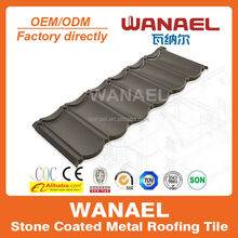 Best sell building material/ stone chip coated metal roof tiles in guangzhou