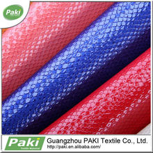color snake pu synthetic leather for luggage