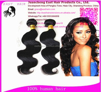 East Hair 8inch to 32inch Double And Tight Weft Virgin Unprocessed virgin peruvian hair in china