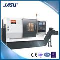 Jasu L-4050 torno CNC Max mecanizado longitud 420 CNC centro de torneado con contrapunto 10 herramientas torreta