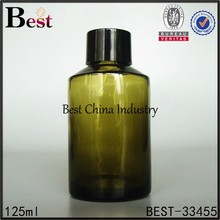 125ml fashion chinese company produce glass bottle, jet lotion bottle with blue body