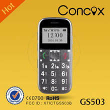 Big font and easy operation mobile phone for old age people Concox GS503 for personal tracker