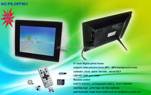 LCD TFT video frame digital remote 10 inch support video auto and many format
