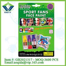 cheer item yellow/blue/ purple sport fans toys face paint