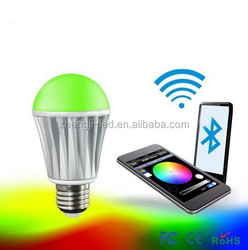 shenzhen smartphone control led blurtooth bulb lights made in china