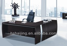 Steel tube tempered glass top PC table
