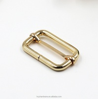 Wholesale different size wire buckle metal bag buckle gold adjuster