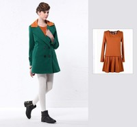 Most popular European design New Model used long winter coats with double breasted design