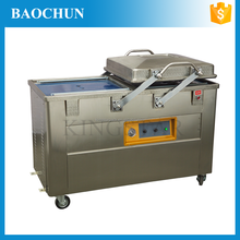 double chamber stainless steel meat fish dz500 vacuum packing machine