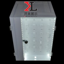 2015 New design Acrylic Jewelry Display Case LED Lights rotating jewelry display cabinets