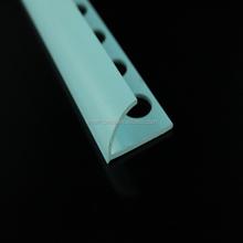 Open type pvc tile trim / plastic pvc tile trim for round wall