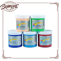Newest chinjoo 500ml acrylic paint pots colors for interior wall, acrylic heavy body paint for artist wholesale