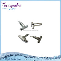 Wholesale silver stainless steel cufflinks findings