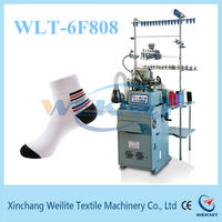 Single knitting method and new condition computerized flat socks knitting machine manufactures