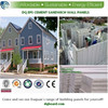 Environment friendly flat top roof pre engineered luxurious light steel prefab villa