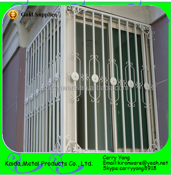 Simple wrought iron house window grill design view window for Simple design of window