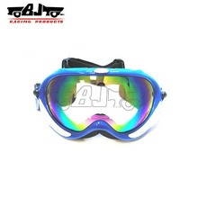 BJ-MG-005A Customized Factory motorcycle racing off-road Top selling transparent lens stylish rayzor phoenix Goggles ski Otg