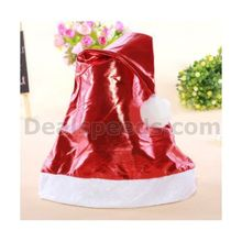 Fashionable Glossy Cloth Christmas Santa Claus Hat Christmas Decoration