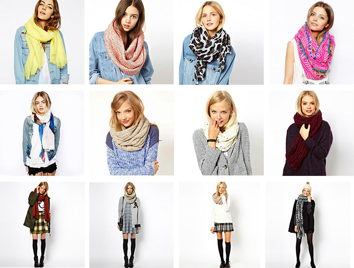 Fashion Embroidery Knitted Shawl