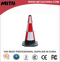 70cm Rubber White & Red Plastic Cone For Yarn