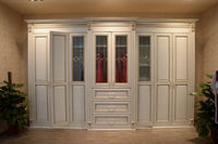 Antique white bedroom furniture european wooden wardrobe