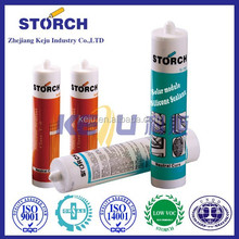 Acetic seal for interior decorative glass structural silicone sealant