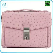 Elegant design authentic genuine ostrich leather bag real ostrich skin shoulder bag