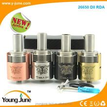 Wholesale atomizer wholesale exgo w3 /little boy/vulcan rda, 4 colors original 26650 DII rda tesla