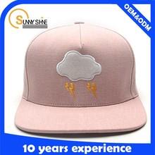 Children girls fashion blank black snapback cap wholesale