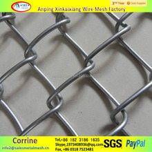 9 gauge 50x50mm galvanized or pvc coated chain link fence for garden, yard, sport field