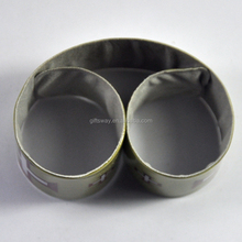 Alibaba supplier promotions gifts PVC reflective slap wristband