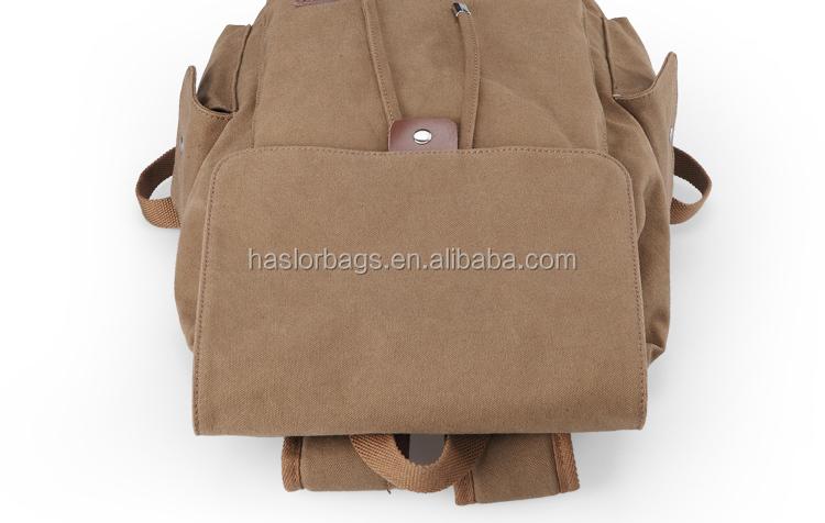 Étanche et durable toile personnalisée sac à dos de grande capacité