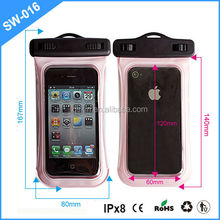 innovative design sand beach/swimming pool PVC IPX8 100% waterproof bags for cell phone for iphone4/5/5s