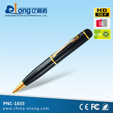 720P @ 30 FPS hidden camera support take video/audio /picture low cost hidden camera pen (PEN-1035)