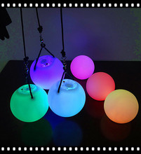 Factory 2015 wholesale LED Poi Swing Ball with multicolor led poi led glow poi ball