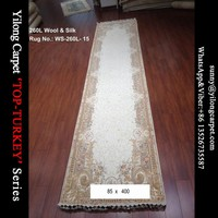 85x400cm handmade modern perisan wool silk carpet runner
