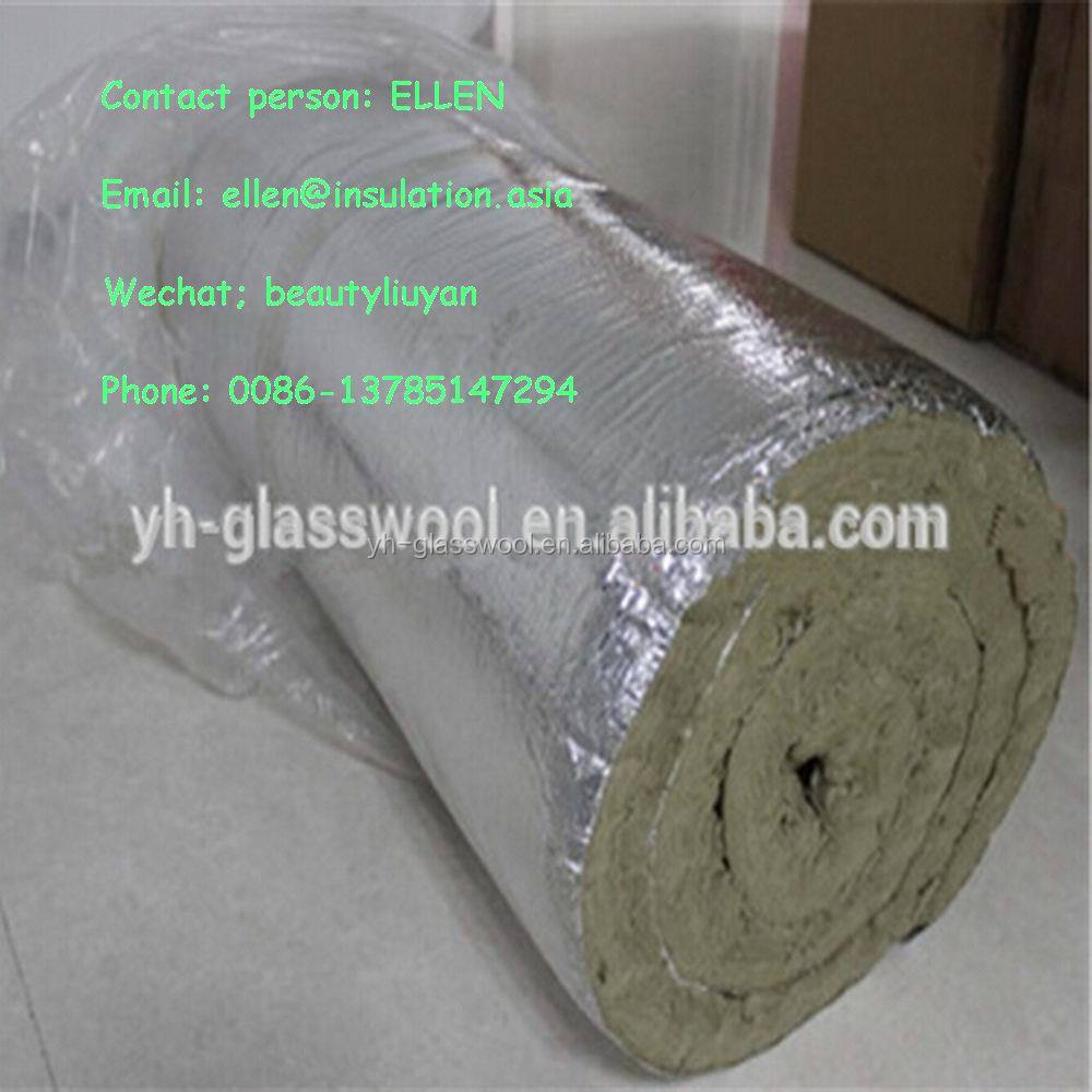 Fireproof rock wool blanket wire mesh thermal insulation for Mineral wool blanket