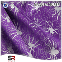 spider design printed tulle for Hallowmas day decoration